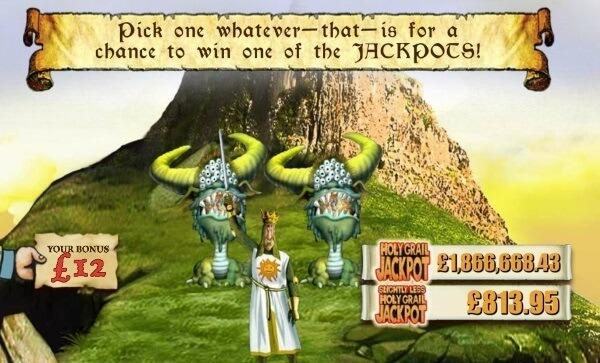 Monty Python Spamalot slot game jackpot