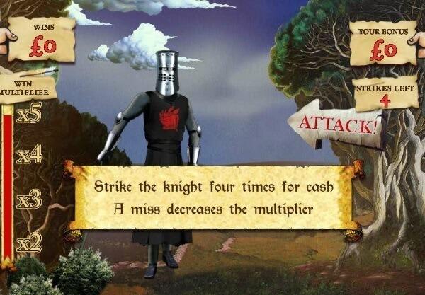 Monty Python Spamalot slot game bonus round
