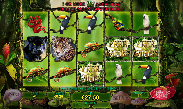 scatter symbol of secrets of the amazon slot game