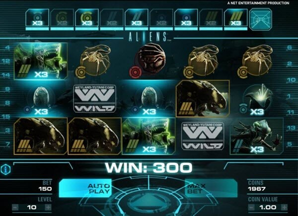 level 1 of aliens slot game