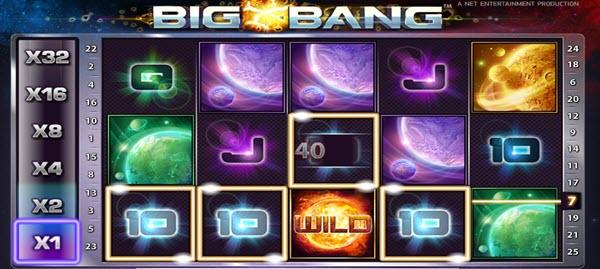 wild symbol of big bang slot game