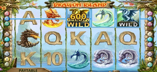 golden drafon symbol of dragon island video slot