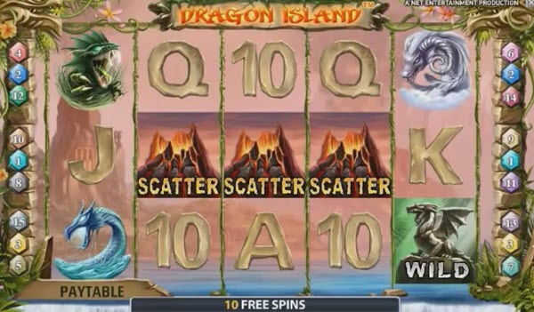 scatter symbol of dragon island slot game