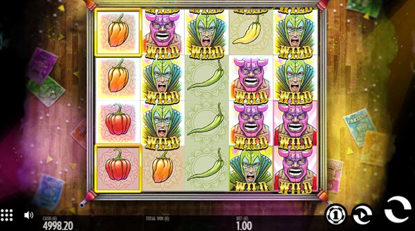 wild symbol of luchadora slot game