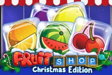 Christmas edition of the Fruit shop slot game