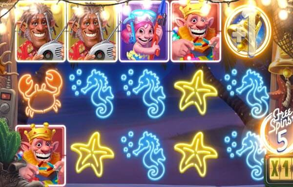 scatter symbol of sam on the beach slot game