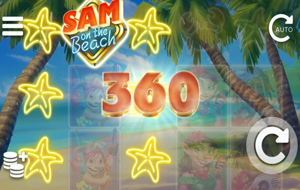 wild symbol of sam on the beach slot game