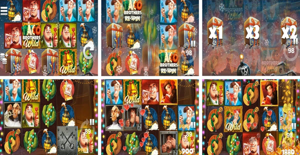 Features of Taco Brothers Saving Christmas slot game