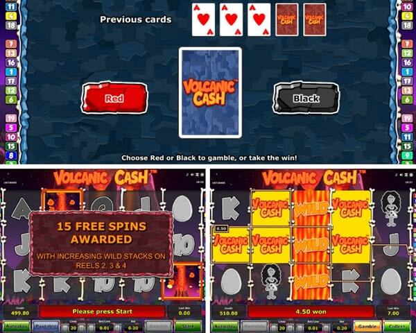 Volcanic cash slot game
