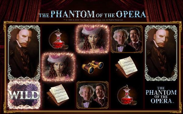 wild symbol of phantom of the opera slot game