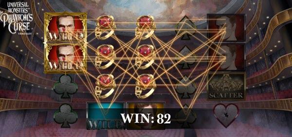wild symbol of Universal monsters the phantom's curse slot game