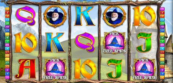 scatter symbols of wizzard of odds slot game