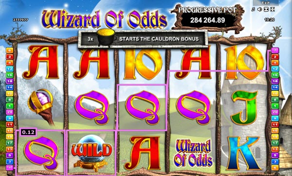 wild symbol of Wizard of Odds slot game