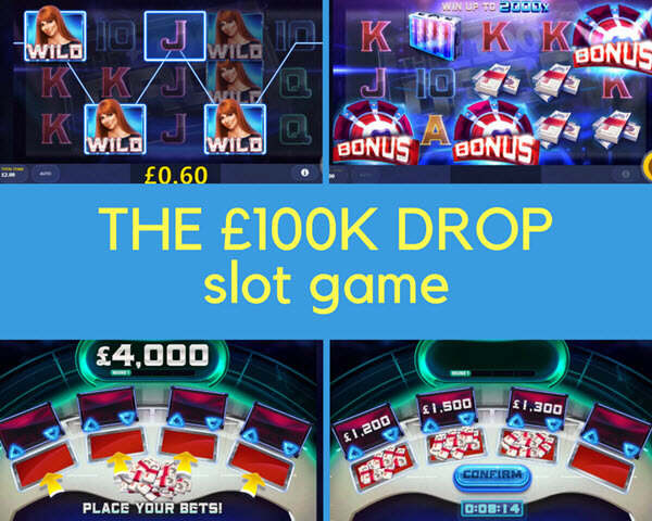 THE £100K DROP feature of THE £100K DROP