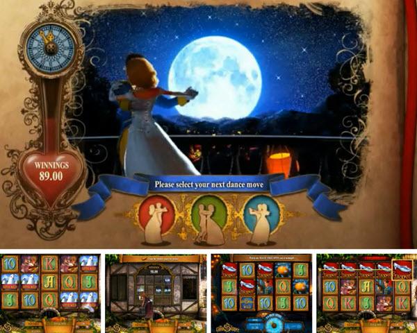 bonus rounds of the The Glass Slipper slot game