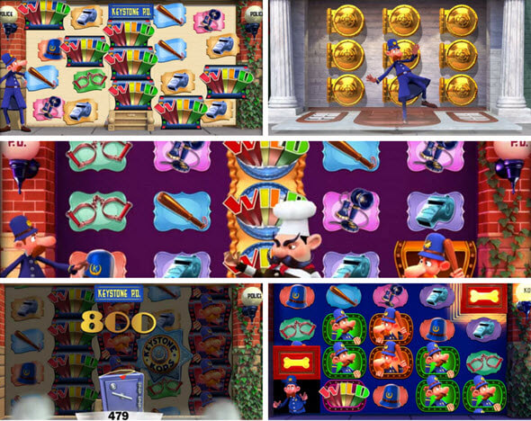 bonus games of keystones kops slot game