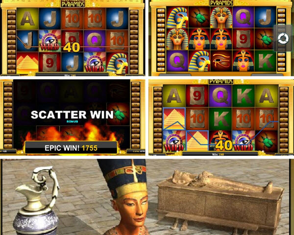 Treasure of The Pyramids slot game comes with only one bonus feature.