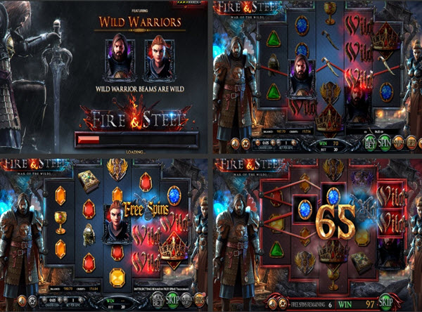 Features ofFire and Steel slot game