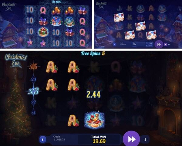 Scatter and Wild Symbols of Christmas Eve slot game
