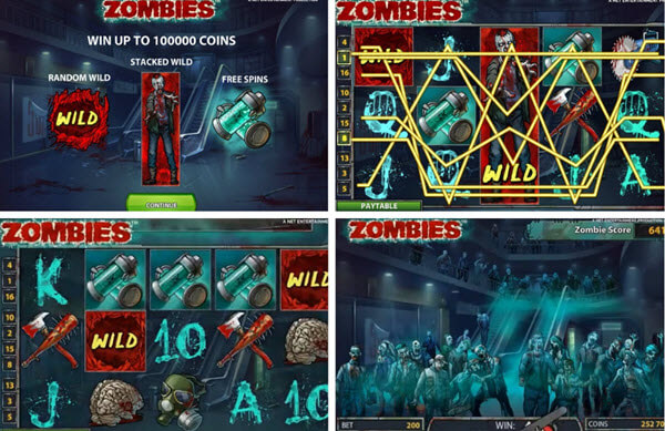 Features of Zombies Slot game