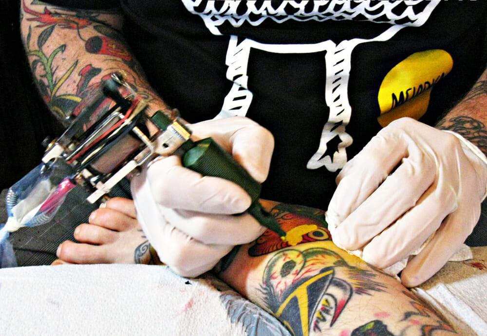 Tattooing In Progress
