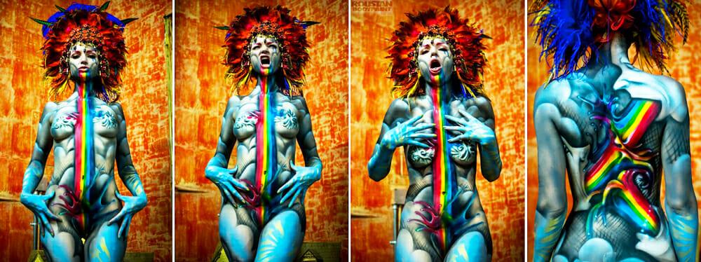 Rainbow Vomit by Paul Roustan
