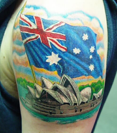 Patriotic Australian Tattoo