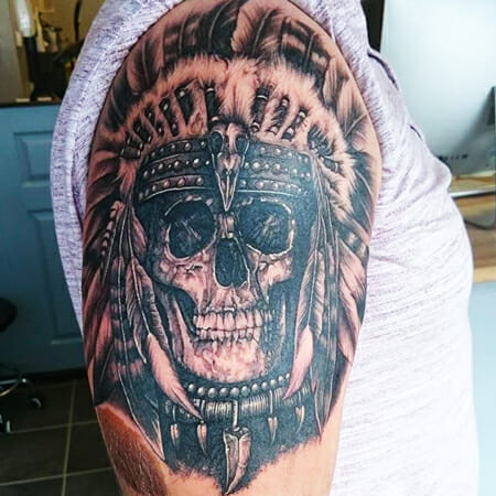 Skull Tattoo by Alison Baugh