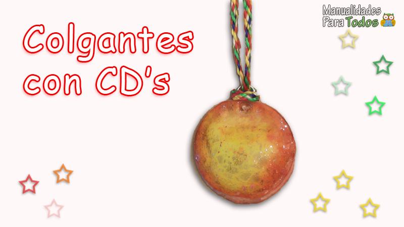 Colgantes con CDs viejos reciclados