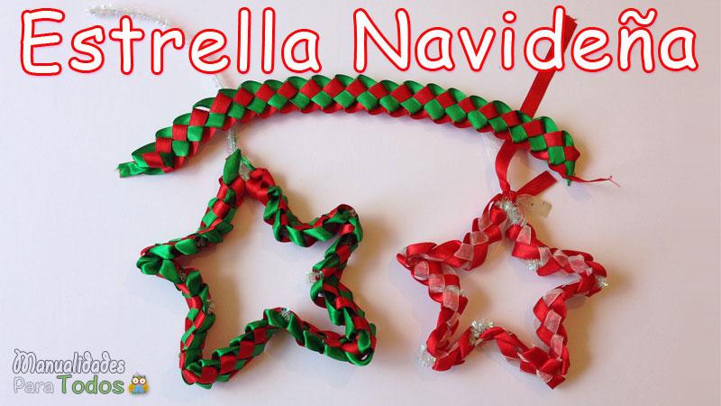 Estrella de navidad manualidadesparatodos.net