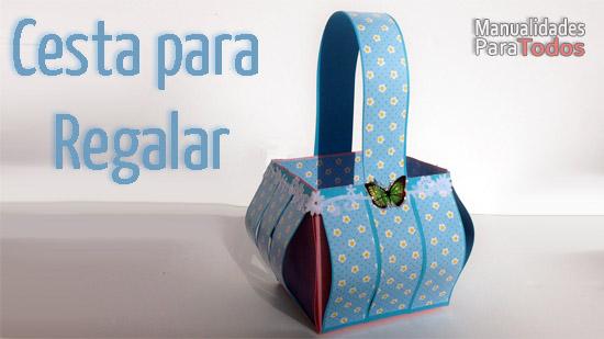 manualidades para regalar | cesta