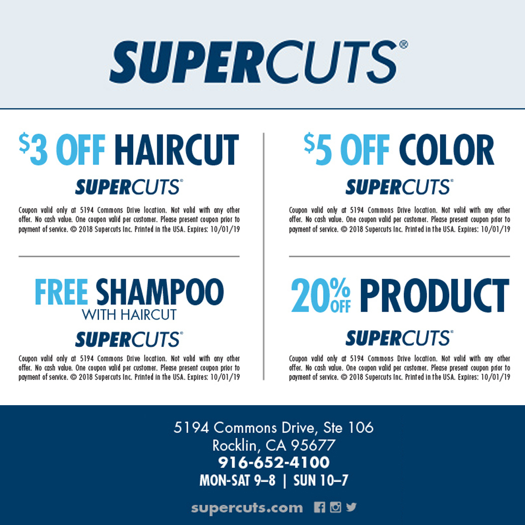 Supercuts - Back to School Coupons