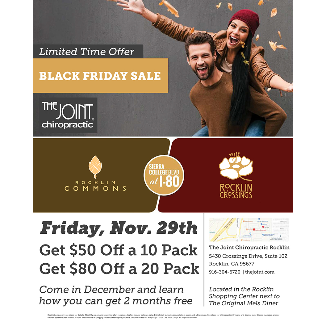 The Joint Black Friday Sale Ad