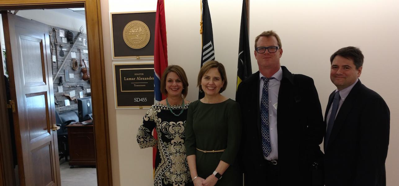 NTC Members visiting US Senator Lamar Alexander's DC Office