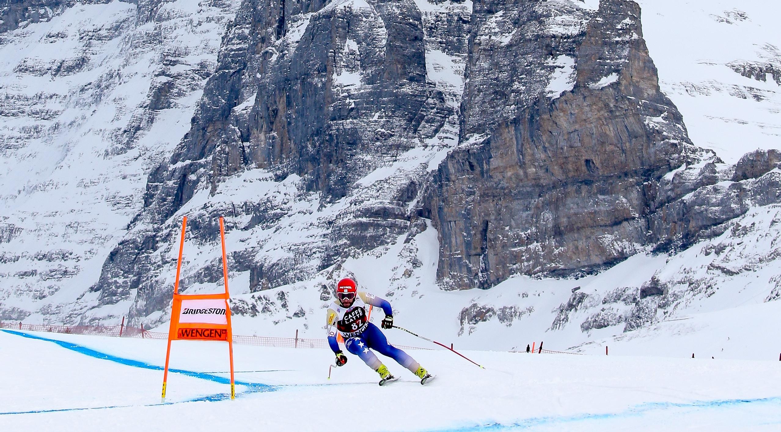 WENGEN,SWITZERLAND,10.JAN.18 - ALPINE SKIING - FIS World Cup, Downhill Training, Men. Image Shows Albin Tahiri (KOS). Photo: GEPA Pictures/ Mario Kneisl