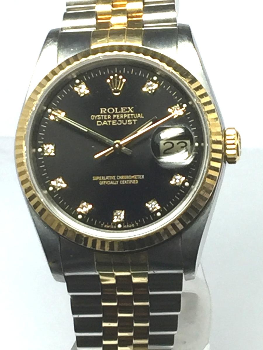 Men's 36mm 18K Stainless Steel Rolex DateJust Model No: 16233