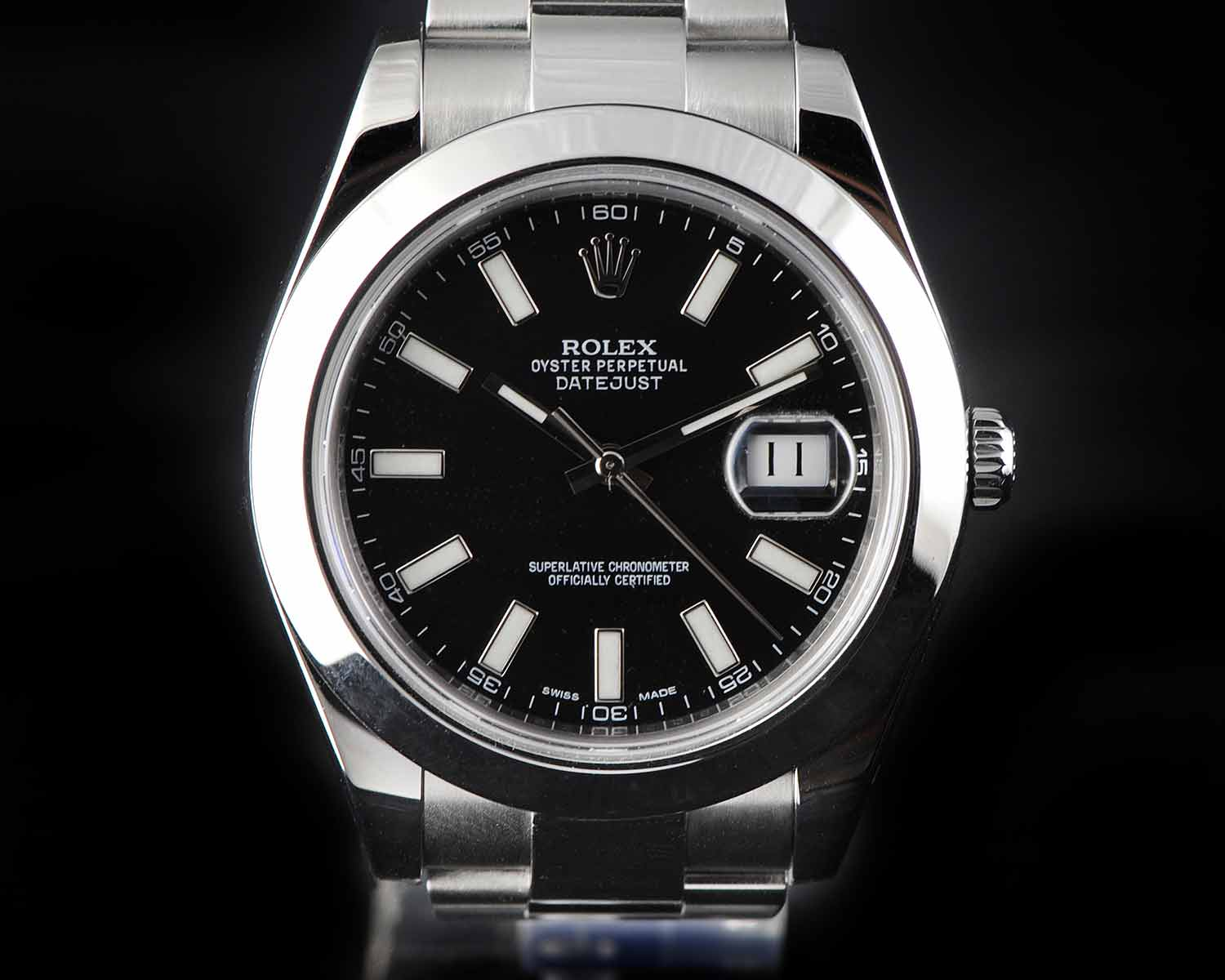 ROLEX DATEJUST II OYSTER PERPETUAL 116300 STAINLESS STEEL WATCH