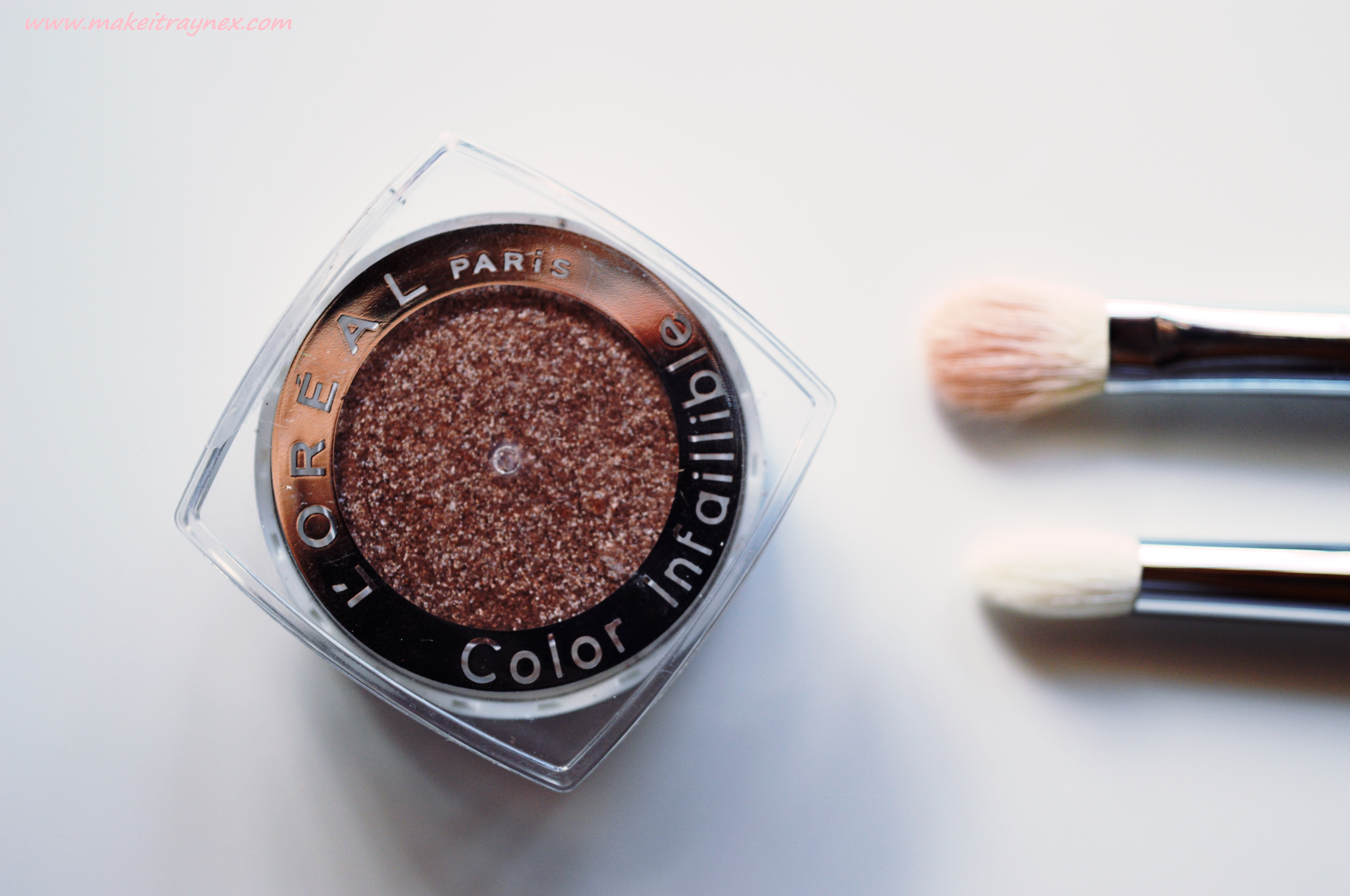 Color Infaillible Eyeshadow in 033 Tender Caramel by L'Oreal {REVIEW}