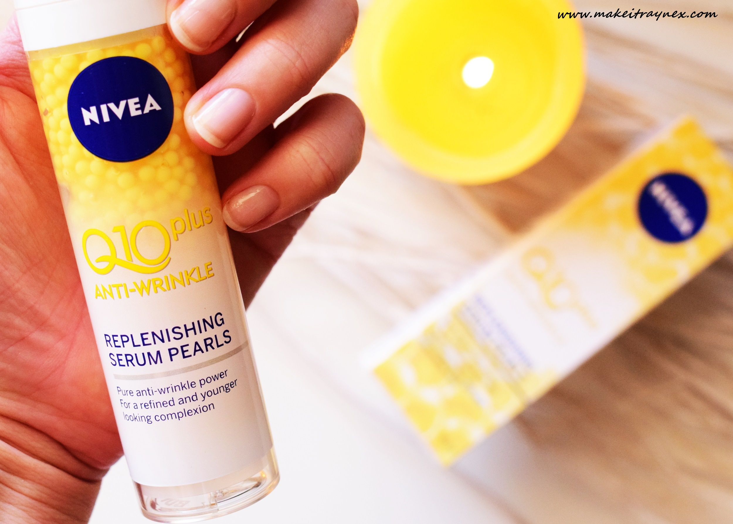Q10 Plus Anti-Wrinkle Replenishing Serum Pearls from NIVEA {REVIEW}
