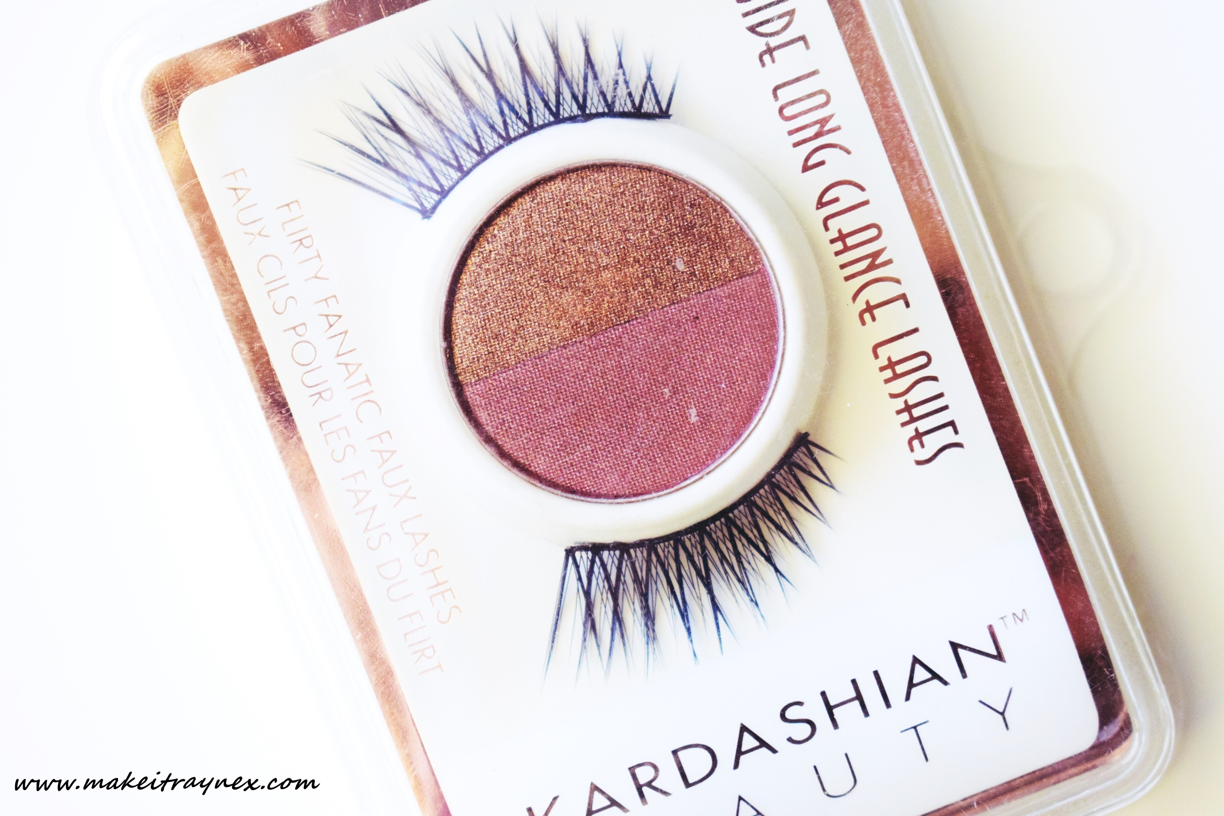 Side Long Glance Lashes & Eyeshadow Duo from Kardashian Beauty {REVIEW}