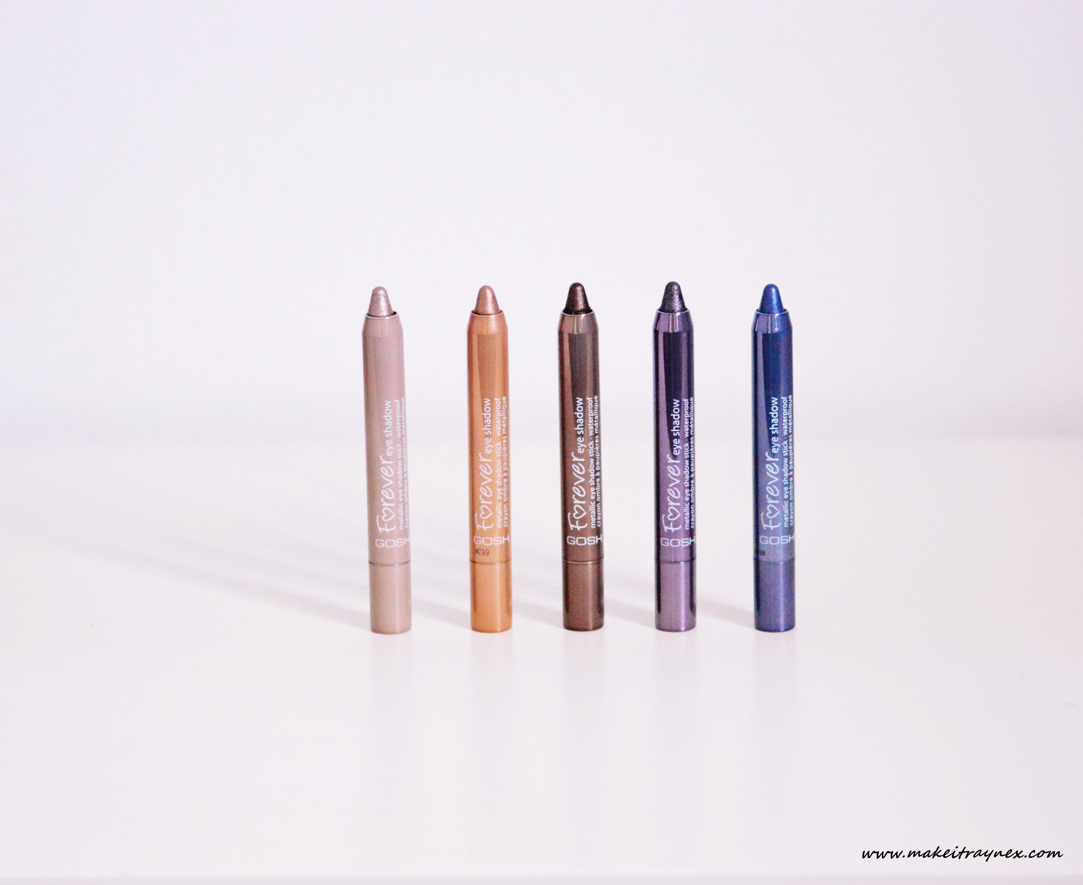 Metallic Forever Eye Shadow Sticks from GOSH {REVIEW}