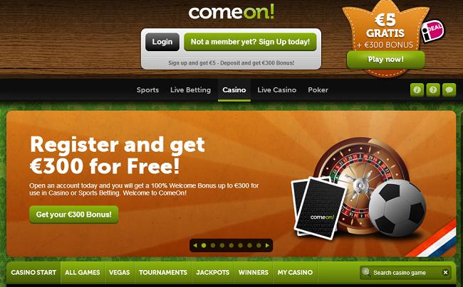All The Deposit Options At Comeon Casino Bonuscode Casino