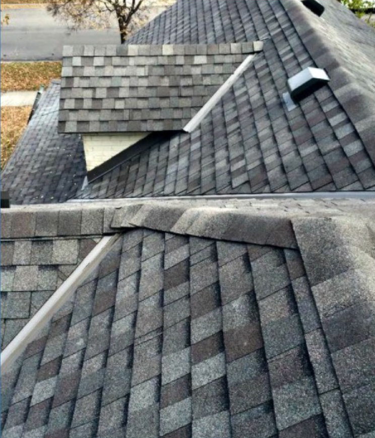 Grey shingles on new roof