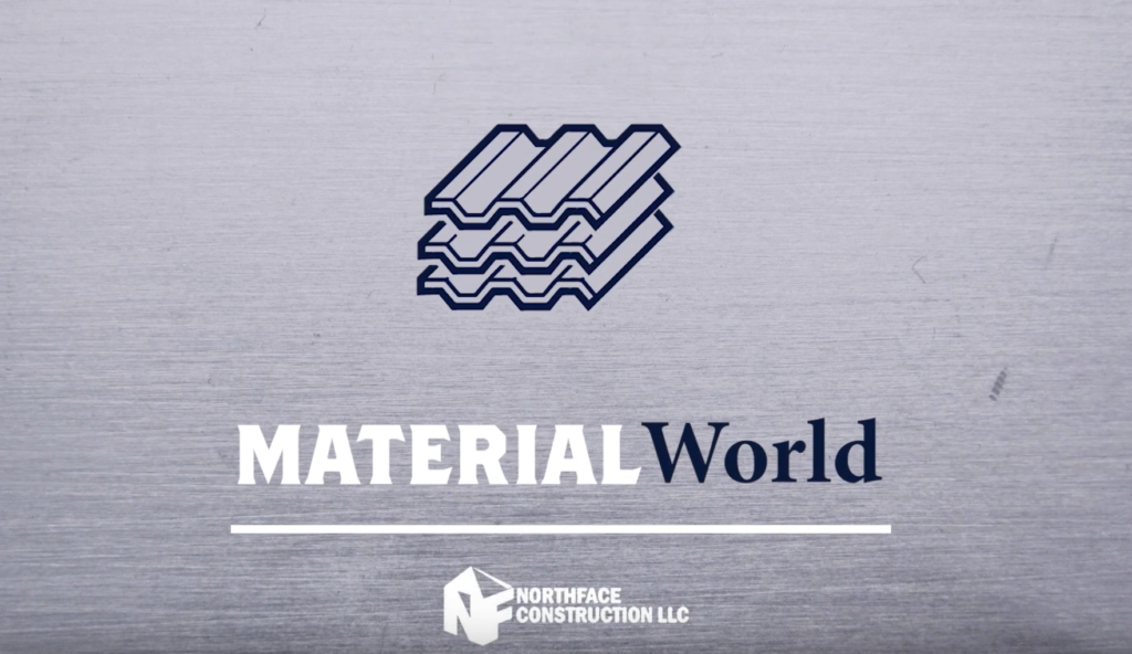 Material World emblem Northface Construction