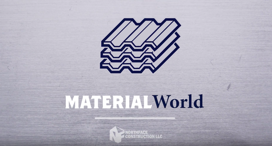 Material world emblem Northface construction