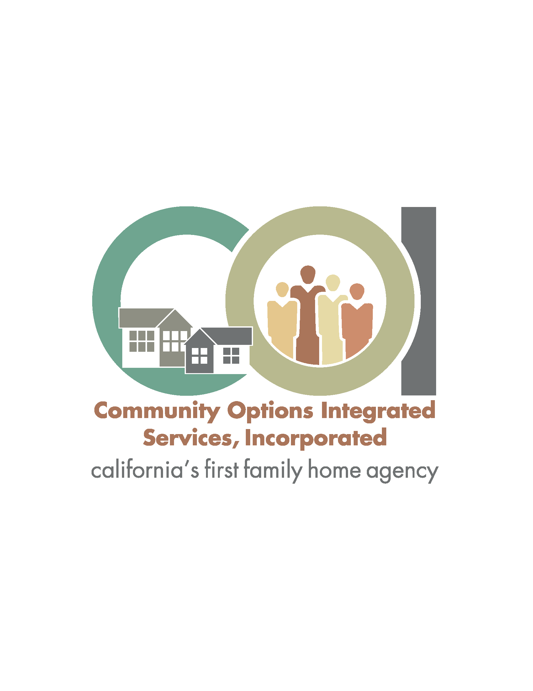 Logo for Community Options Integrated Services. home and family agency.