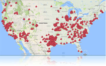 Fire Recovery USA Customer Map