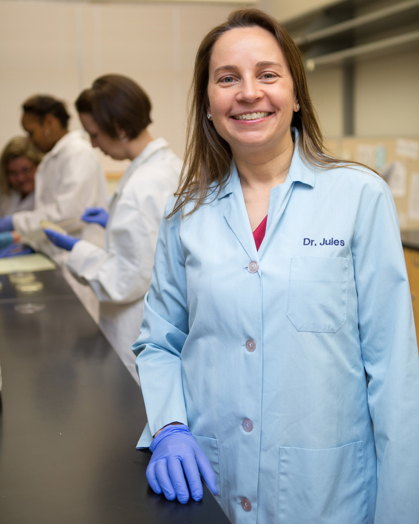 Dr. Julie Horvath, NCCU Research Associate Professor for the Department of Biology and Biomedical Sciences. Photo courtesy of Chioke Brown, university photographer.