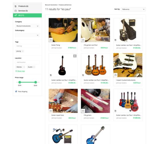 service marketplace, rental marketplace, product marketplace, marketplace platform