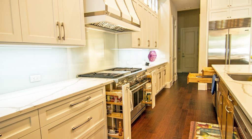 Custom kitchen storage solutions